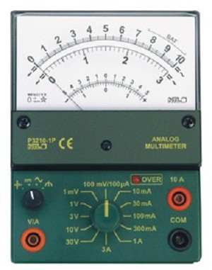 Multimeter analoog, 1 mV - 30 V