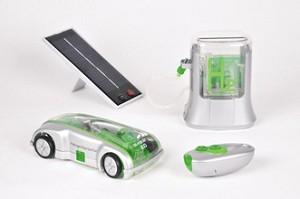 Waterstof auto en oplaadstation