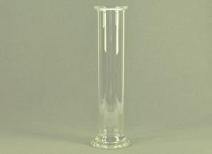 Gascilinder, op voet, 200 x 52 mm
