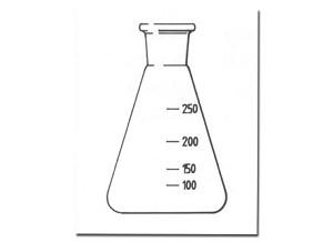 Erlenmeyer, glas, 100 ml, SB 19