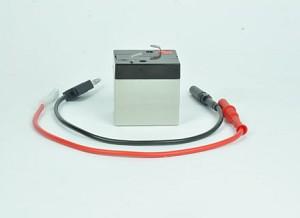 Batterij (oplaadbaar), 6 V / 1 Ah, met 2 aansluitkabels