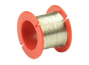 Smeltverbinding, D = 0,1 mm, L = 50 m, spoel, rood