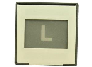 Dia met een afbeelding van een L