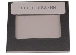 Diffractie tralie, 300 lijnen/mm