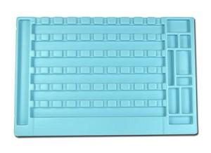 Opbergmal Elektronica – compleet –, met uitsparingen voor gebruikte materialen