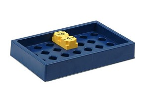 Houder voor maximaal 28 elektrische insteek-componenten, blauw