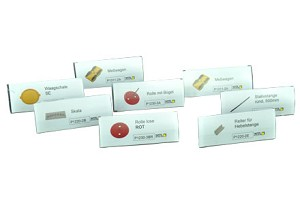 Etiketten met houdertjes, 30 x 75 mm