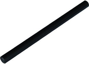 Plastic staaf, 150 x 10 mm, met gat