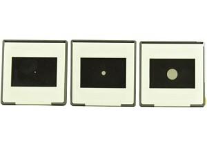 Dia met rond gat set van 3 maten: 1, 3 en 8 mm