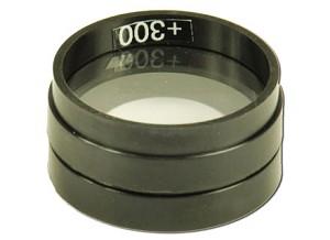Glazen lens, met plastic rand, f = +300 mm